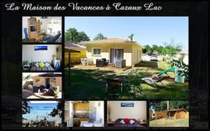 La Maison des Vacances de Cazaux en location - Villa meublée familiale avec 2 chambres 4 personnes - Au bord du Lac de Cazaux - Bassin Arcachon. Piscine. Reservation, tarif.